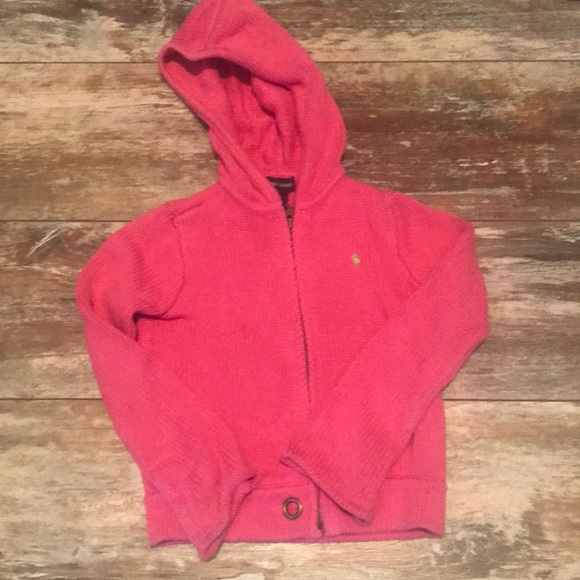 Girls pink polo sweater